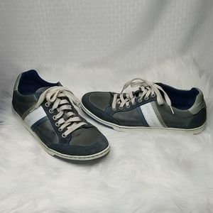 Cycleur de Luxe blue and gray leather shoes